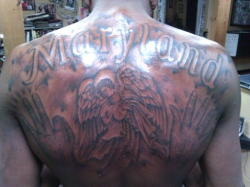 Kevin Durant's back tattoos
